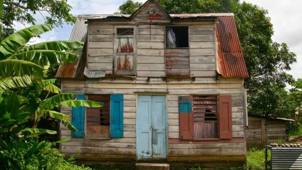 Paramaribo houten woning