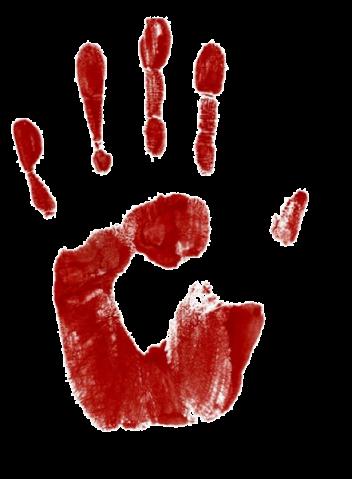 bebloede-hand